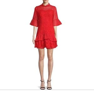 Lea and viola beautiful bell sleeve lace dress